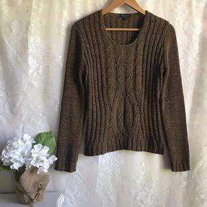 BCBGMAXAZRIA Brown Knit Sweater M